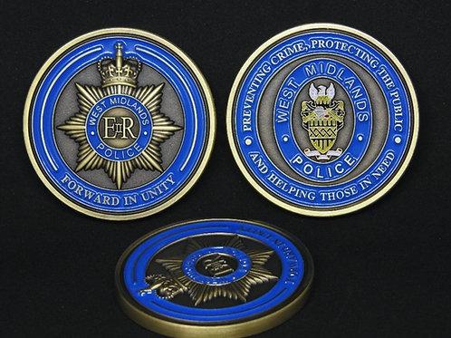West Midlands Police challenge coin - gold