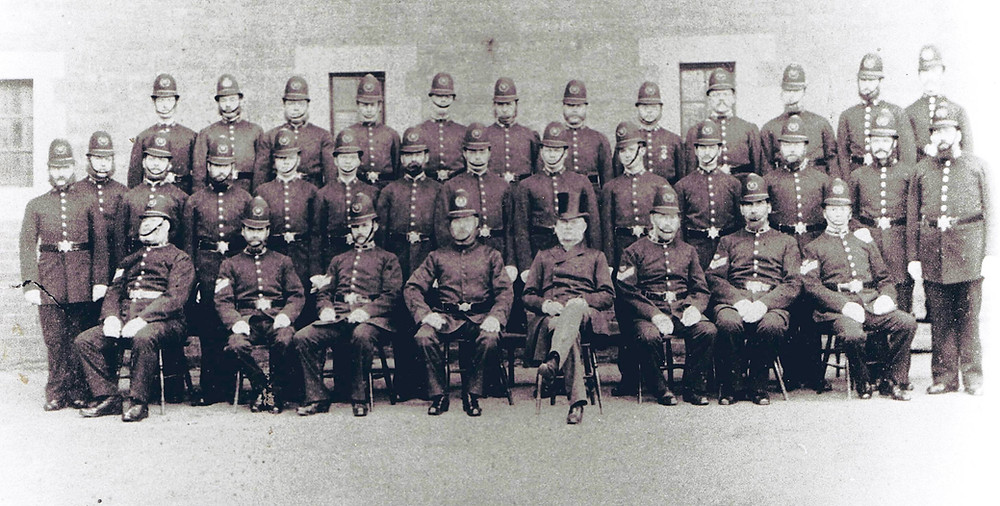 Group picture of Dudley division of the Worcestershire Constabulary c1880
