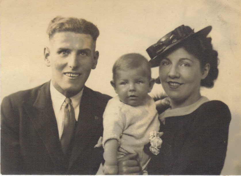 Douglas with wife Beatrice and their son Anthony who died at just 14 months