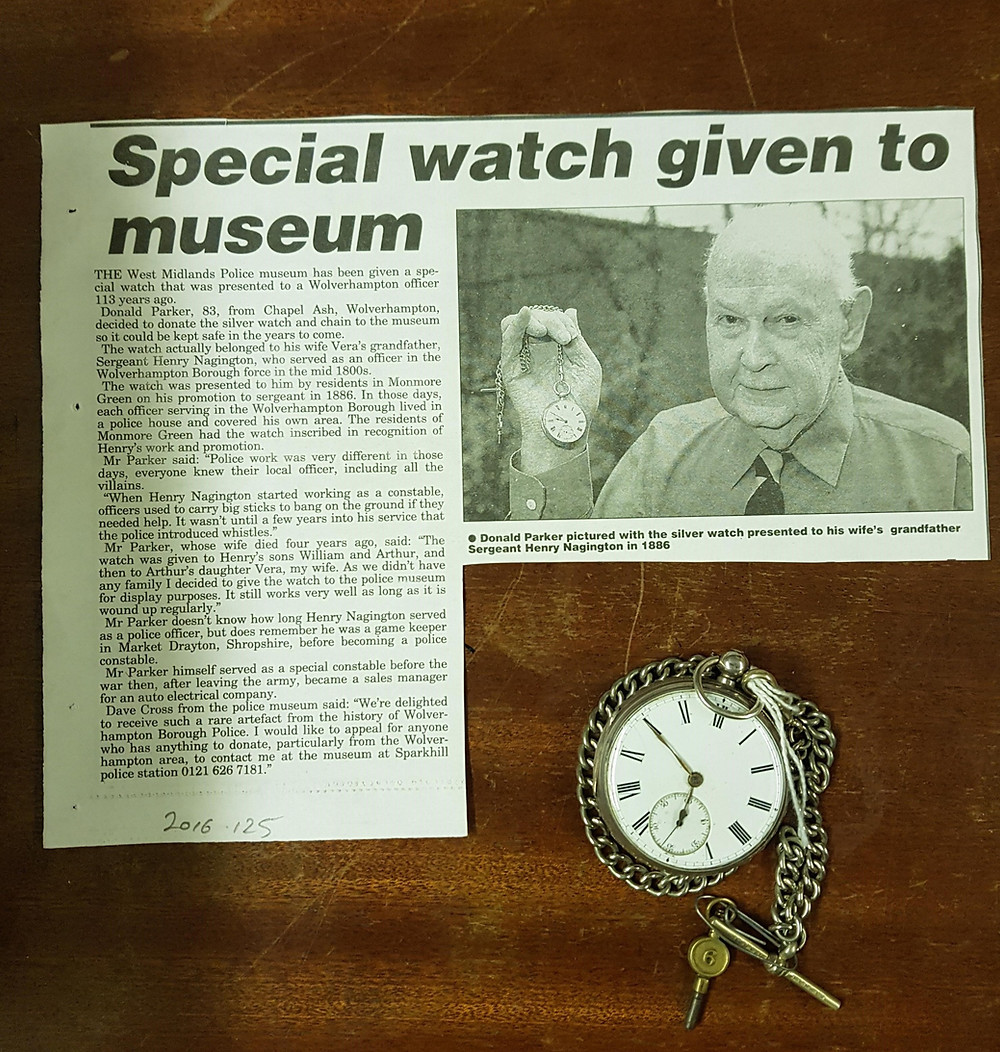 Original internal news article from 2003 with the pocketwatch