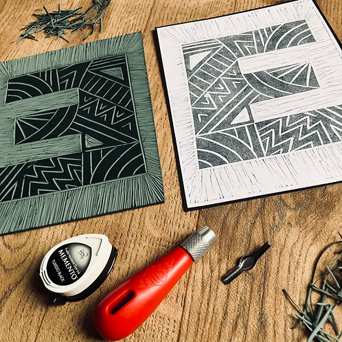 Linocut Letter Workshop