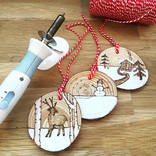 Pyrography Christmas Decorations Workshop
