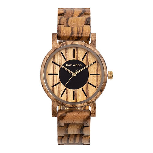 Dublin zebrano wood watch