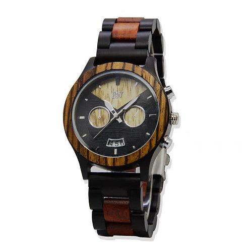 Zebony wood watch