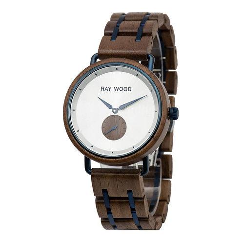 Milano walnut wood watch