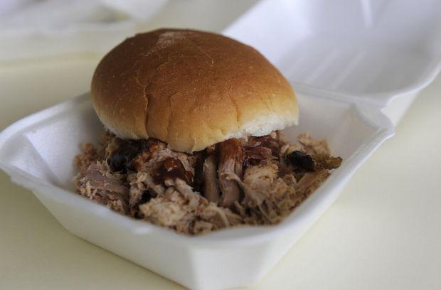 Badd Newz BBQ Pork Sandwhich