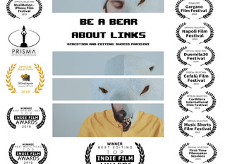 """About Links (feat. Grigio)"" by Be a Bear, wins the 'best editing' award at the &q"