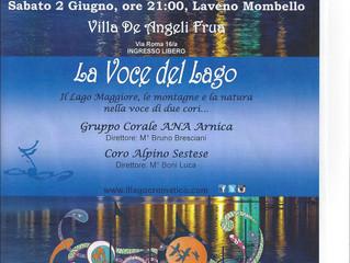 Sabato 2 Giugno ore 21:00, Laveno Monbello Villa De Angeli Frua