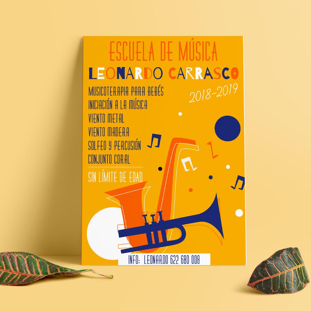 DISEÑO GRÁFICO || Diseño de carteles // Escuela de Música