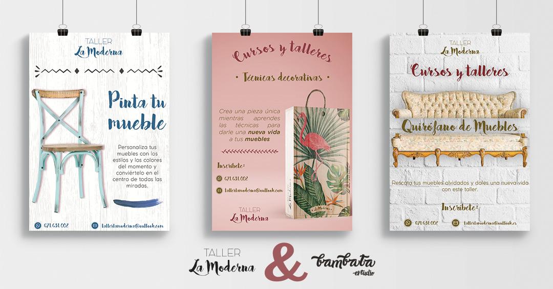 DISEÑO GRÁFICO || Diseño de carteles // Taller La Moderna Murcia
