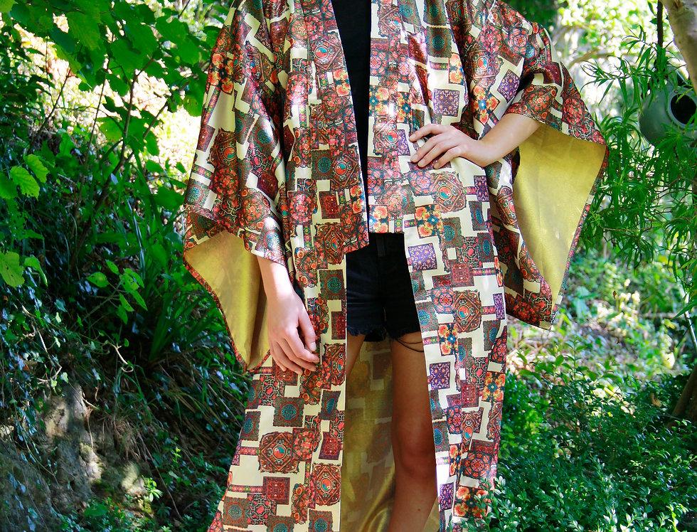 Tile Print Kimono