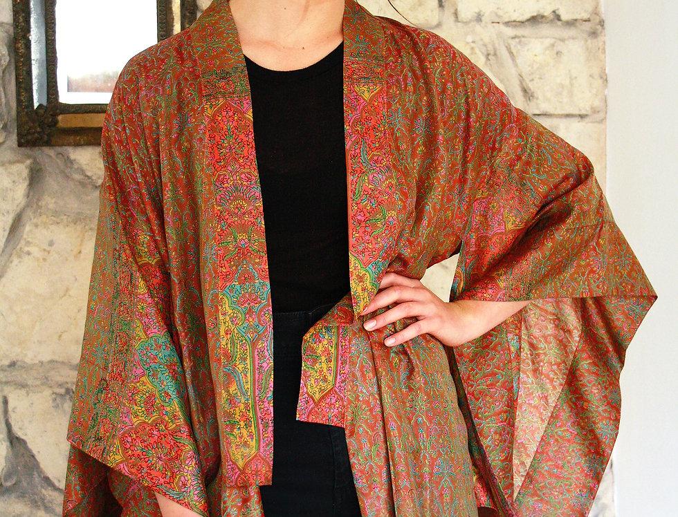 Burnt Sienna Floral Kimono