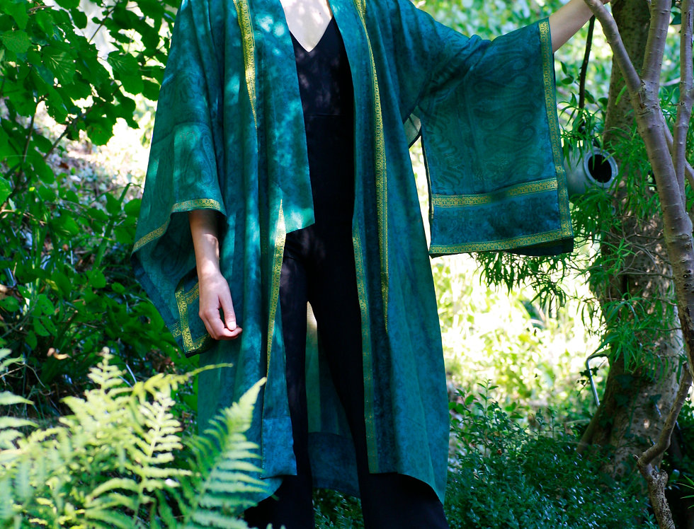 Peacock Green Kimono