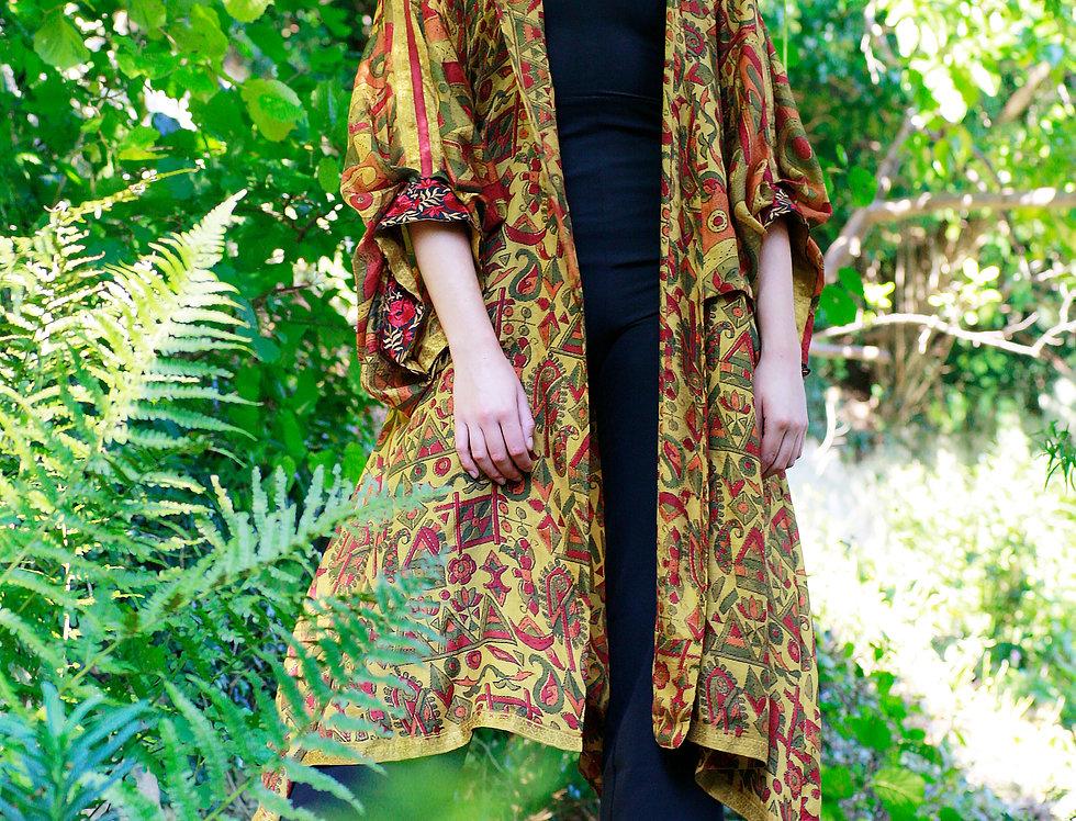 Golden Print Kimono