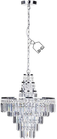 Large Crystal Chandelier   Bathroom IP44 Rated   Height: 85 cm Width: 47 cm