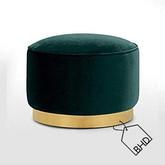 35cm Green Pouffe Stool