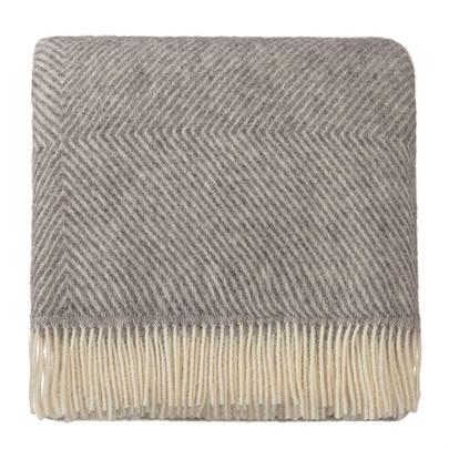 100% Scandinavian Wool Throw in Grey 140 x 220cm