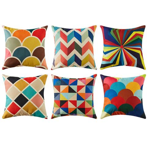 Colour Print Cushion Covers 45cm x 45cm