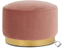 35cm Pink Pouffe Stool