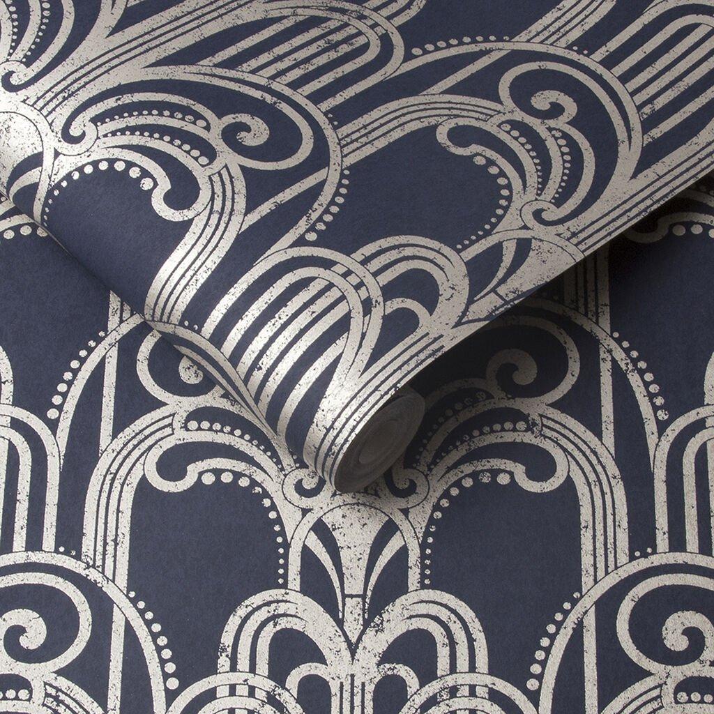 Midnight Art Deco Wallpaper by Graham & Brown