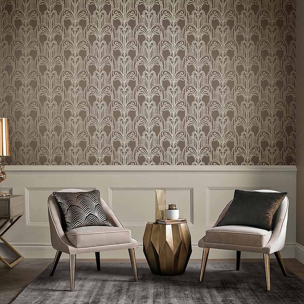 Natural Art Deco Wallpaper by Graham & Brown