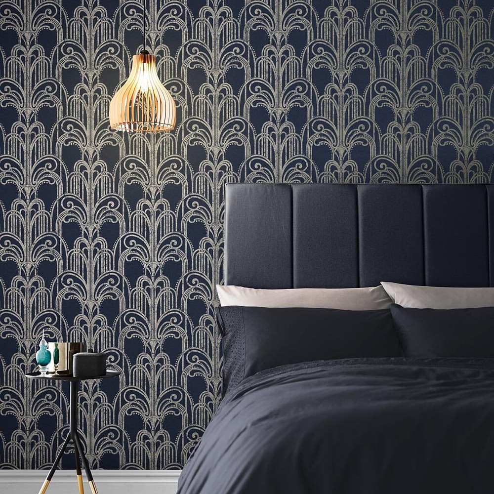 Midnight Art Deco Wallpaper by Graham & Brown