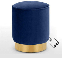 60cm Blue Pouffe Stool