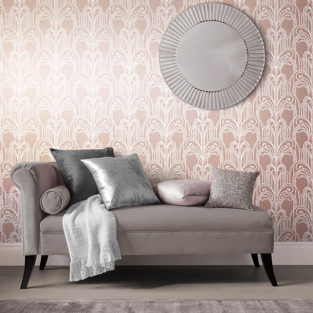 Rose Gold Art Deco Wallpaper by Graham & Brown
