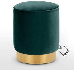 60cm Green Pouffe Stool