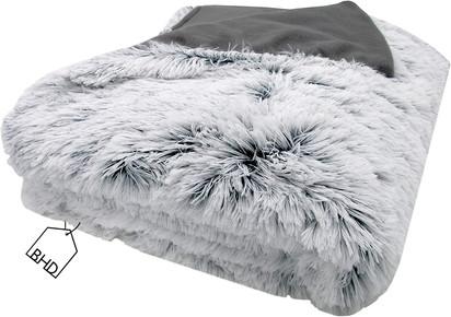 Light Grey Teddy Faux Fur Throw   150x200 cm