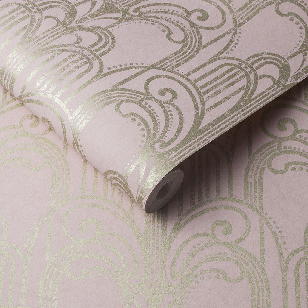 Blush Deco Wallpaper by Graham & Brown