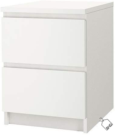 IKEA MALM   Chest of 2 drawers   white   40x55 cm  