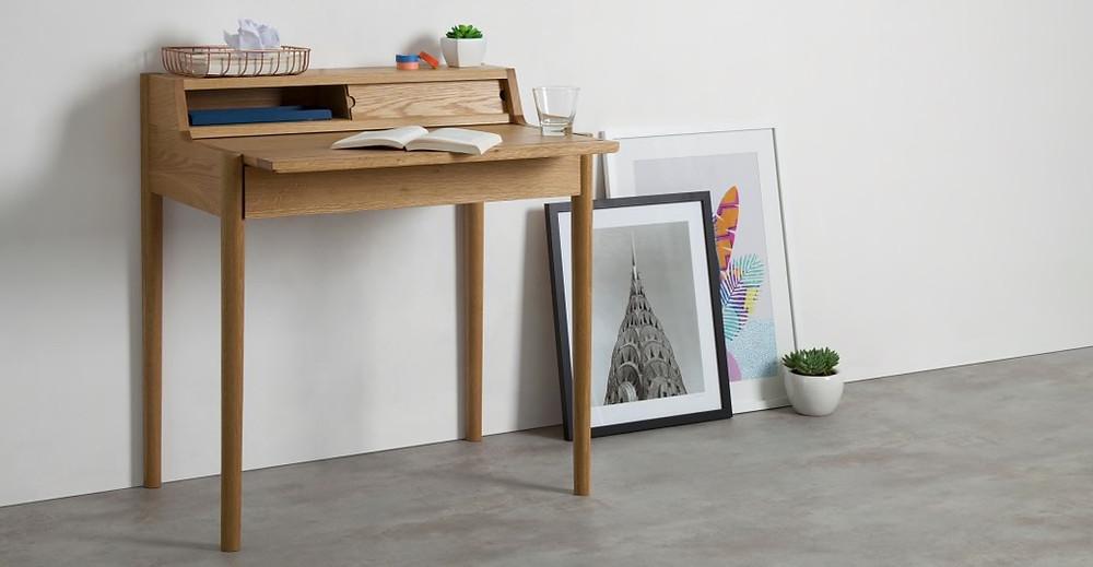 Leonie Compact Desk, Oak | £249
