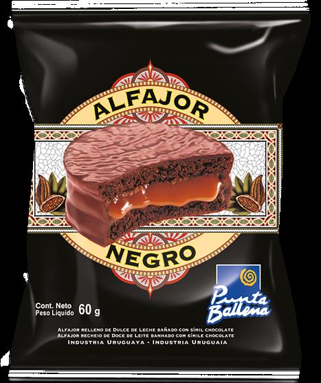 Alfajor Negro Punta Ballena (12 unidades)
