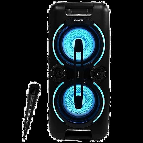 Caixa de Som Karaoke Aiwa AW-POK3 USB / Bluetooth / Aux / Microfone