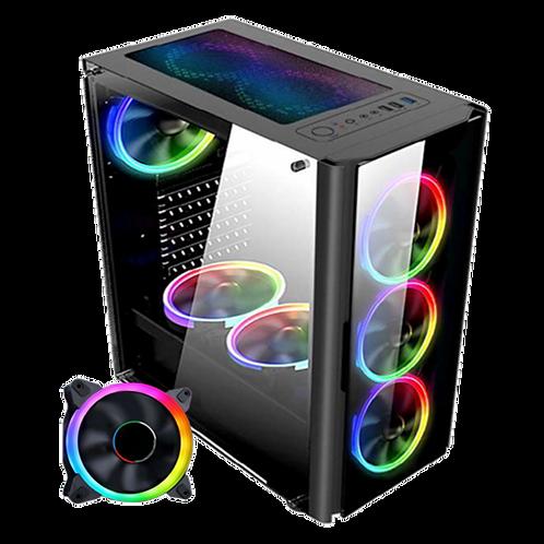 Gabinete Gamer Satellite Cooler Led RGB com controle