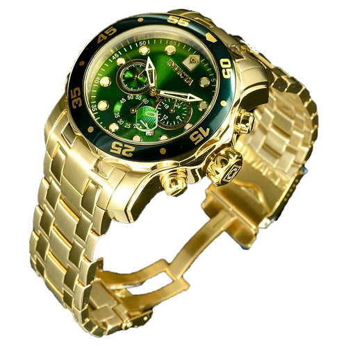 Relógio Invicta Pro Diver Banhado Ouro 18k Cronografo 48mm
