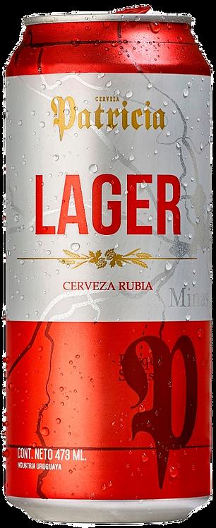 Cerveja Patrícia Lager 473ml (pack c/6)