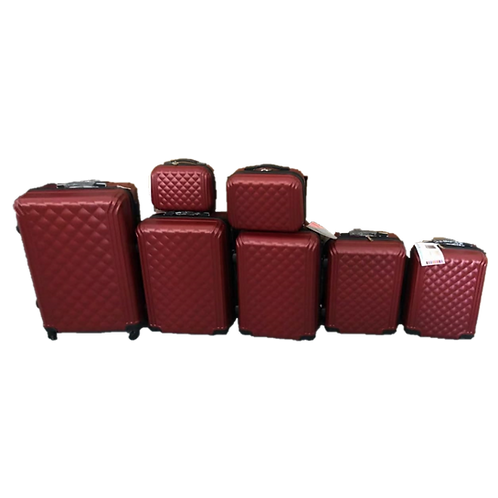 Conjunto com 7 malas de viagem em ABS
