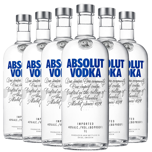 Vodka Absolut Tradicional 1000ml (pack c/6)