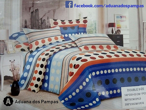 Kit Lençol + Sobrelençol + Fronhas para cama Casal