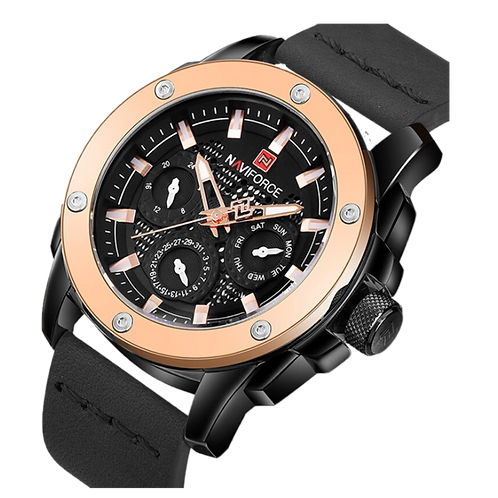 Relógio Masculino Naviforce 9116 Black and Gold