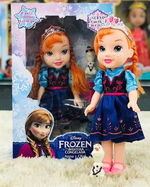 Boneca Frozen - Anna 35cm Musical e Olhos de Cristal