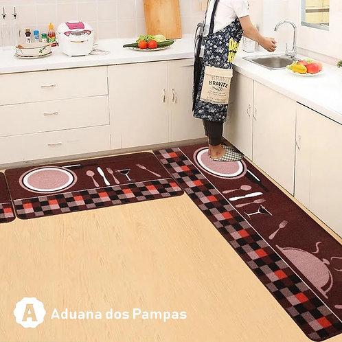 Tapete para cozinha (Kit 3 Peças)