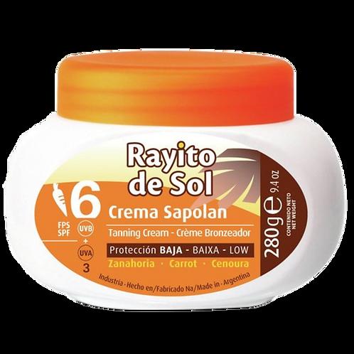 Creme Rayito de Sol Sapolan com cenoura SPF 6
