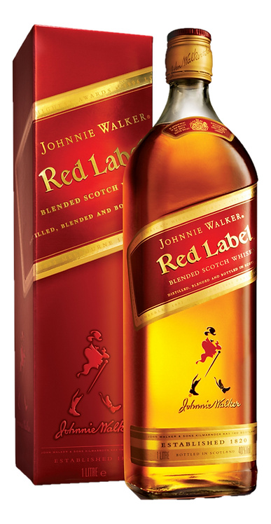 Whisky Johnnie Walker Red Label 1000ml (Caixa com12)