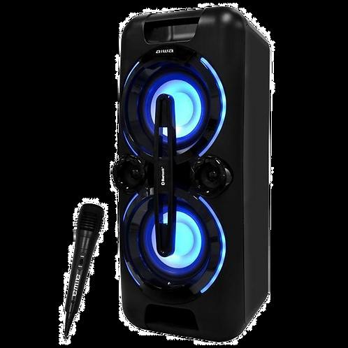 Caixa de Som Karaoke Aiwa AW-POK4 USB / Bluetooth / Aux / Microfone