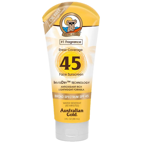 Protetor Solar Facial Australian Gold Sheer Coverage FPS 45
