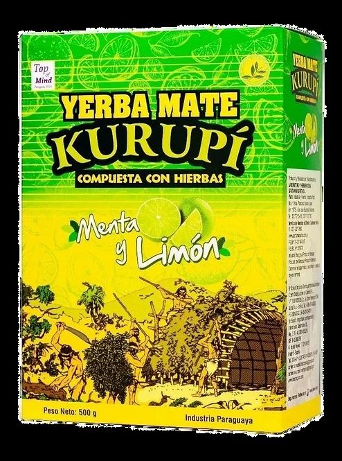 Erva Mate Kurupí Composta Menta e Limão 500g