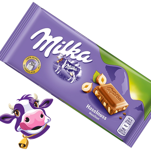 Milka Haselnuss - Chocolate com avelã